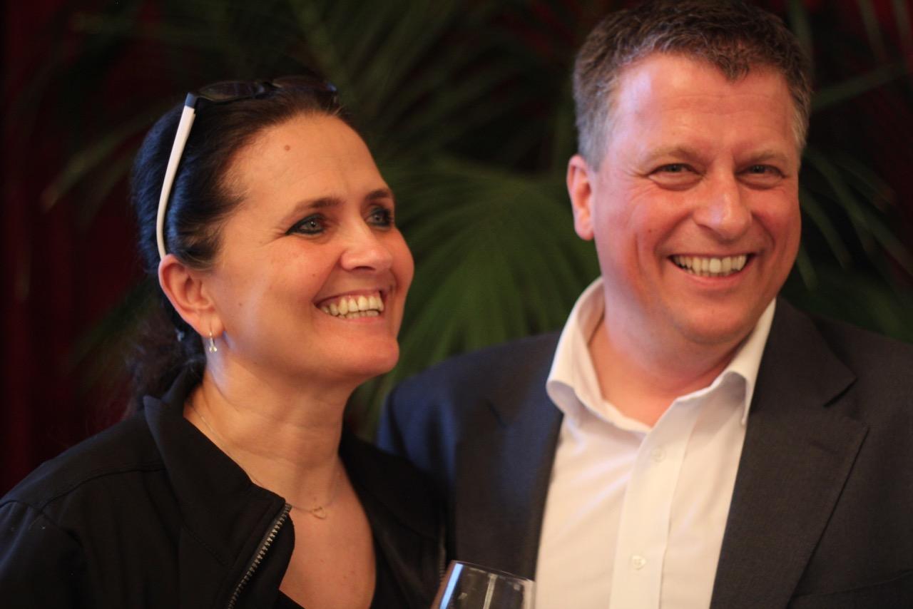 Uschi und Thomas Podsednik vom Weingut der Stadt Wien am Cobenzl präsentierten eine eindrucksvolle Vertikale von vier Jahrgängen des Wiener Gemischten Satz DAC Reisenberg.