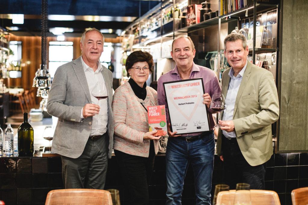 Herbert Prohaska ist Wirtshausführer Weinmensch 2019