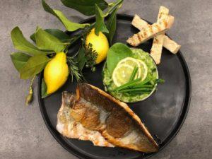 Kochen wie der Wirt: Bachforelle mit Bärlauch-Blattspinatrisotto