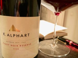 Pinot Noir Reserve 2008 Weingut Karl Alphart Klaus Egles Wein der Woche Wirtshausführer