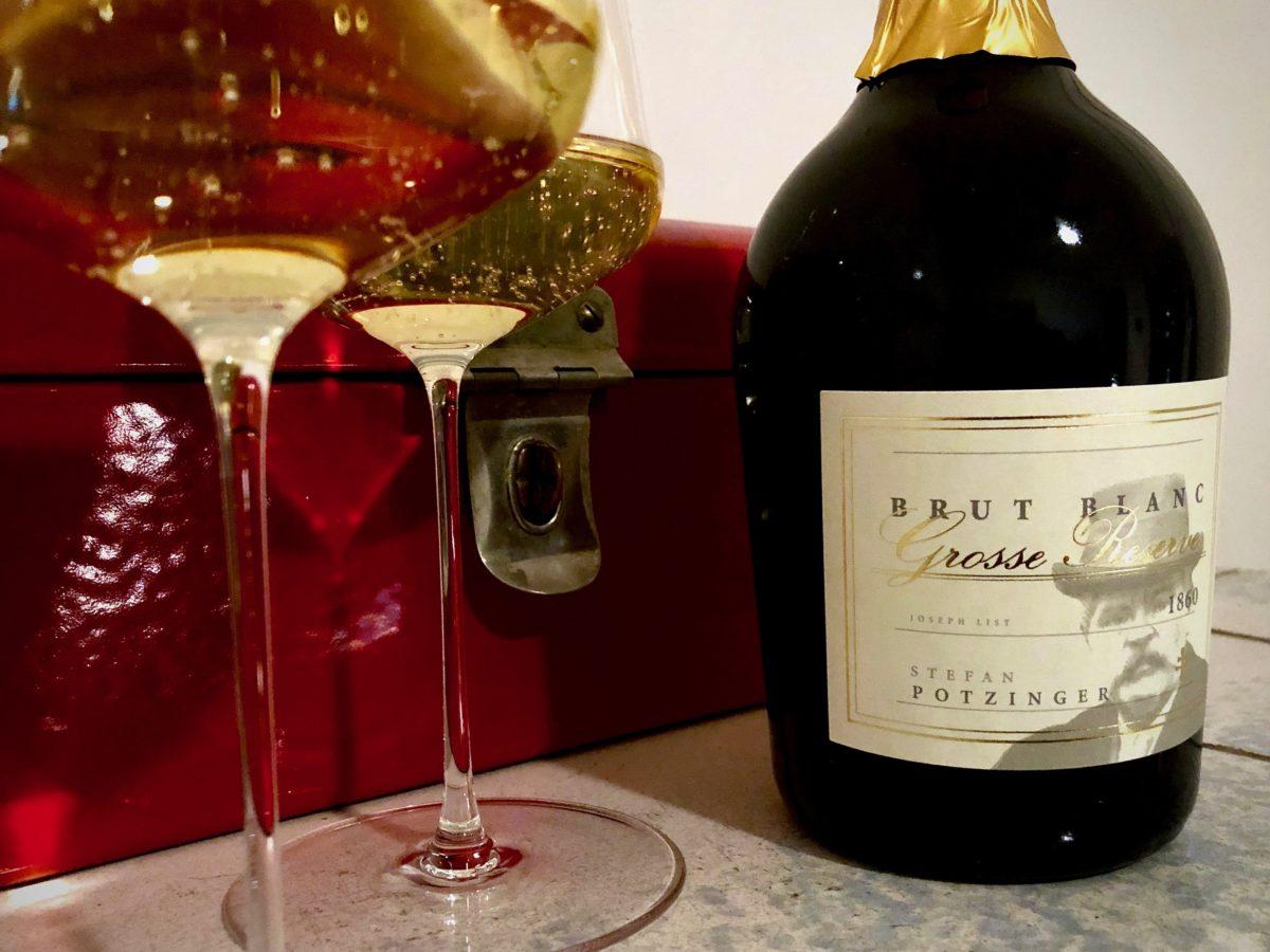 1860 brut blanc Methode Traditionelle Grosse Reserve Weingut Potzinger Wein mit Egle